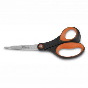 Cuchillalia - Tijera Papelería, Manualidades, Varios Usos - Naranja - 17cm - 3 Claveles 127