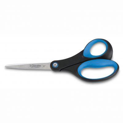"""Cuchillalia - Tijera de Cocina 8"""" con Mango Soft Grip Azul - 3 Claveles 440"""