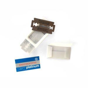 Dispensador de 10 hojas de afeitar Personna Platinum fabricadas en Israel - Blister abierto - Cuchillalia