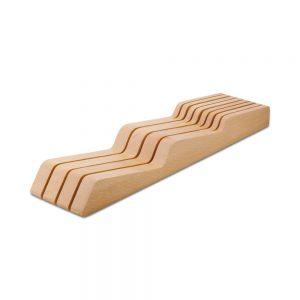 Cuchillalia - Taco de madera de haya maciza 7 Cuchillos para Cajón - Wüsthof 7270