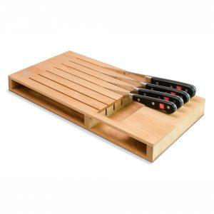 Cuchillalia - Taco de cuchillos para cajón en madera de haya - 7 Cuchillos - Wüsthof 7273