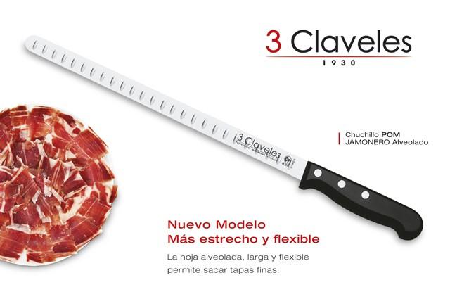 Jamonero Alveolado flexible de 3 Claveles - Modelo 964 POM