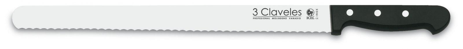 "Cuchillo Pastel 36cm 14"" Línea UNIBLOCK - 3 Claveles 00914"