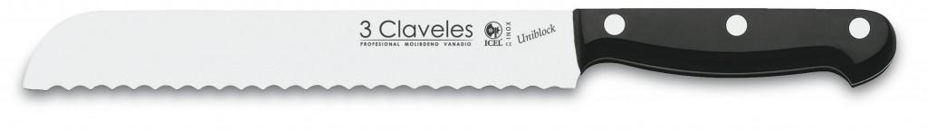 "Cuchillo Panero 20cm 8"" Línea UNIBLOCK - 3 Claveles 01120"