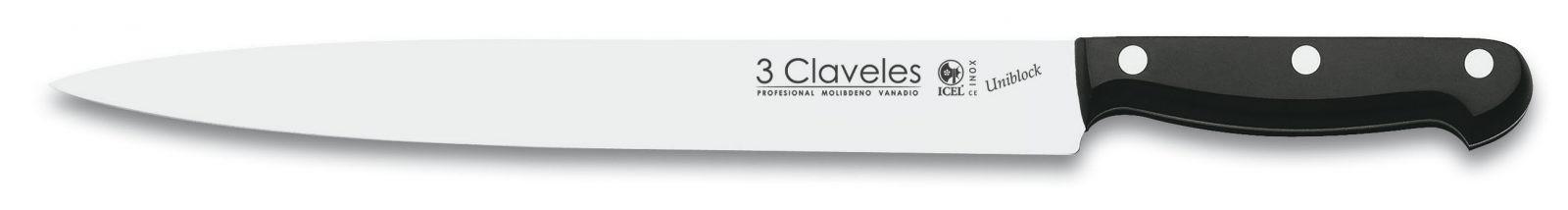"""Cuchillo de Trinchar 25cm 10"""" Línea UNIBLOCK - 3 Claveles 01146"""