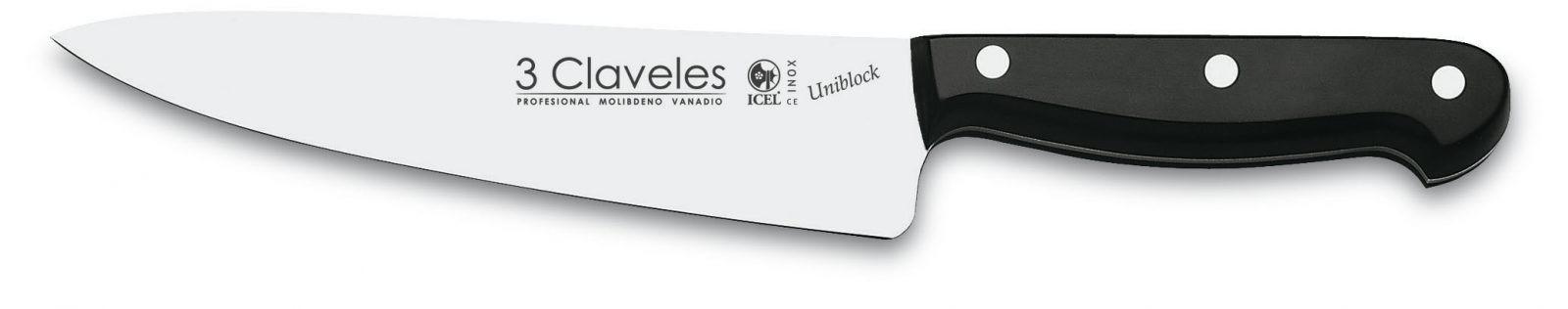 Cuchillo Cocinero 18cm 7″ Línea UNIBLOCK – 3 Claveles