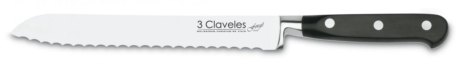 "Cuchillo Panero 20cm 8"" Línea FORGÉ - 3 Claveles 01567"