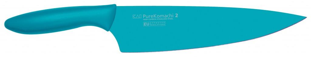 """Cuchillo Cocina Azul 20cm 8"""" Línea Pure Komachi 2 - KAI AB-5706 1575023"""