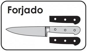 Cuchillo Forjado - Hoja, Virola y Cachas del cuchillo