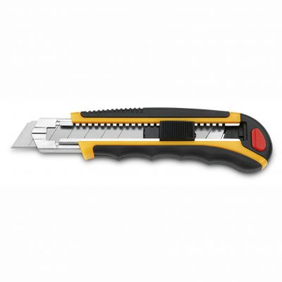 Cuchillalia - Cutter Metal-Nylon / ABS Cuchilla 25mm - Cierre de Seguridad - 3 Claveles 208