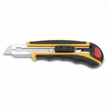Cuchillalia – Cutter Metal-Nylon / ABS Cuchilla 18mm – Cierre de Seguridad – 3 Claveles 209