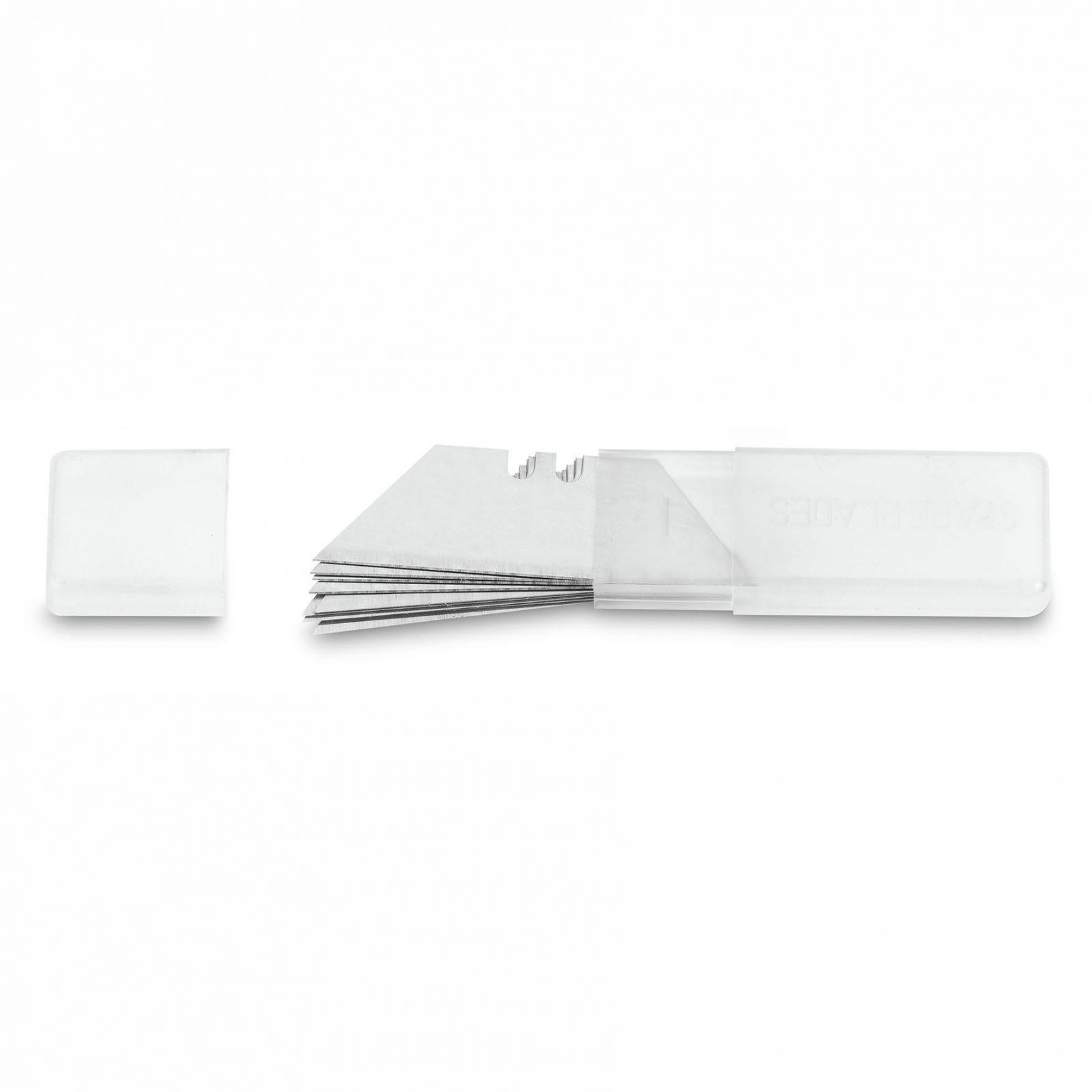 Dispensador de 10 hojas cuchillas de recambio trapezoidales para cúter Mart...