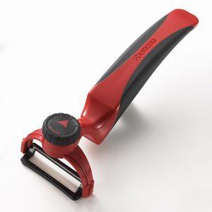Cuchillalia - Pelador de Cerámica Kyocera CP-20RD Perfecto (Rojo-Negro)