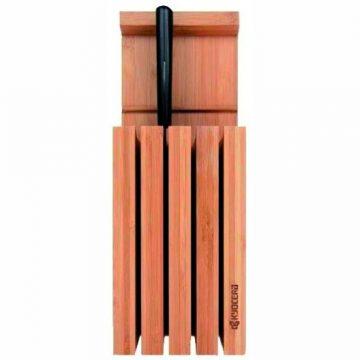 Cuchillalia – Bloque de Bambú para 4 cuchillos de Kyocera modelo KBLOC4