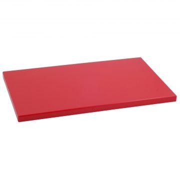 Tabla Cortar Polietileno (PE-500) Metaltex 50x30cm espesor 20mm color ROJA