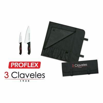 Lote Estuche para Escuela de Hostelería Mondador y Cocinero PROFLEX - 3 Claveles - Cuchillalia