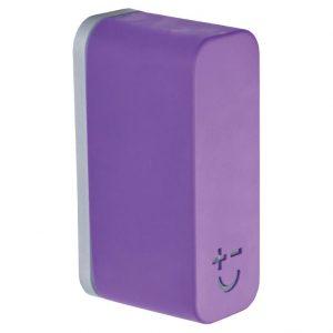 Bisbell 17216 - Soporte Magnético Goma - Soft Touch Púrpura (max. 2 cuchillos)