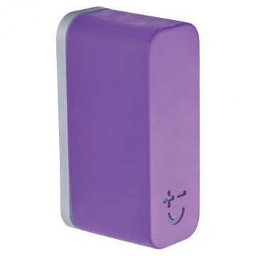 Bisbell 17216 – Soporte Magnético Goma – Soft Touch Púrpura (max. 2 cuchillos)
