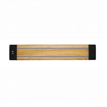 Cuchillalia – Bisbell 17200 – Barra / soporte magnetico madera roble 36cm
