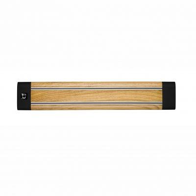 Cuchillalia - Bisbell 17200 - Barra / soporte magnetico madera roble 36cm