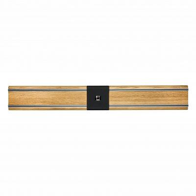 Cuchillalia - Bisbell 17201 - Barra/Soporte Magnética Madera de Roble - Montaje Central 45 cm