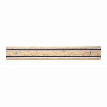 Cuchillalia – Bisbell 17205 – Barra/Soporte Magnética Madera de Caucho 30 cm