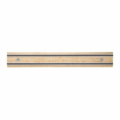 Cuchillalia - Bisbell 17205 - Barra/Soporte Magnética Madera de Caucho 30 cm