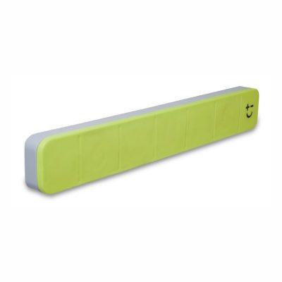 Cuchillalia - Bisbell 17213 - Barra/Soporte Magnética Goma-Soft Touch Verde 30 cm (max. 5 cuchillos)