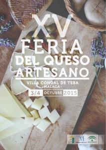 Cartel XV Feria del Queso Artesano - Teba (Málaga)