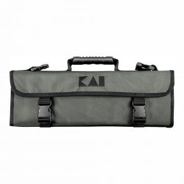 KAI DM-0781 Estuche gris para 5 cuchillos (3 grandes y 2 pequeños) cerrado – Cuchillalia
