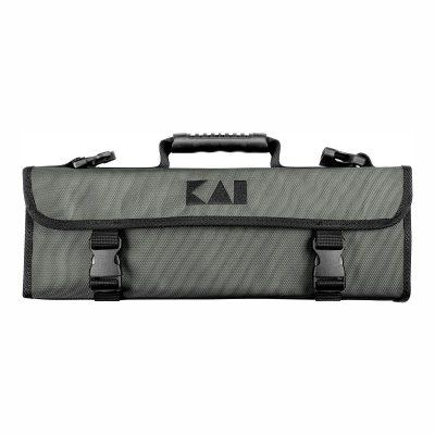 KAI DM-0781 Estuche gris para 5 cuchillos (3 grandes y 2 pequeños) cerrado - Cuchillalia