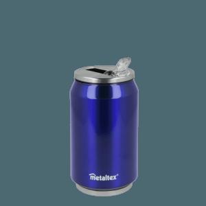 Lata Isotérmica color Azul de 330 ml con boquilla abatible - Metaltex 899771