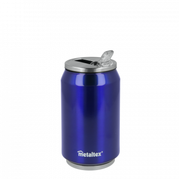 Lata Isotérmica color Azul de 330 ml con boquilla abatible – Metaltex 899771