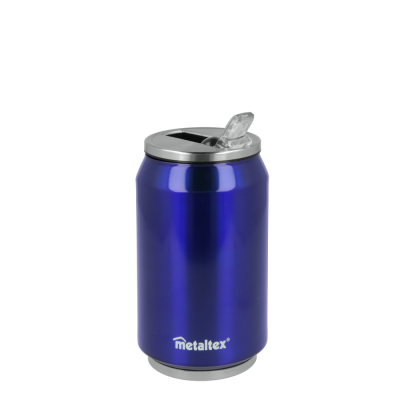 Lata Isotérmica color Azul de 330 ml con boquilla abatible - Metaltex 899771