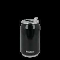 Lata Isotérmica color Negra de 330 ml con boquilla abatible - Metaltex 899771