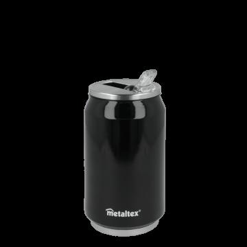 Lata Isotérmica color Negra de 330 ml con boquilla abatible – Metaltex 899771