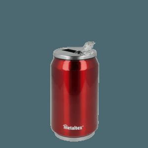 Lata Isotérmica color Roja de 330 ml con boquilla abatible - Metaltex 899771