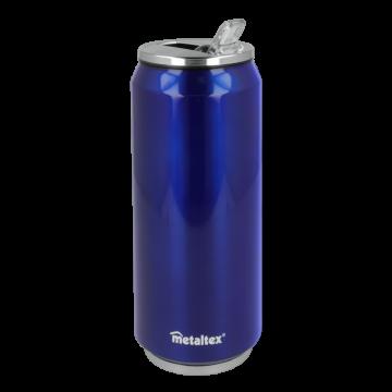 Lata Isotérmica color Azul de 500 ml con boquilla abatible – Metaltex 899772