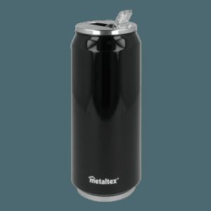 Lata Isotérmica color Negra de 500 ml con boquilla abatible - Metaltex 899772