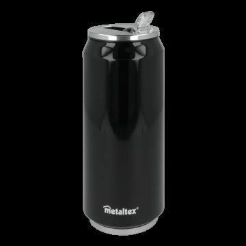 Lata Isotérmica color Negra de 500 ml con boquilla abatible – Metaltex 899772