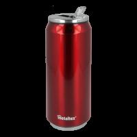 Lata Isotérmica color Roja de 500 ml con boquilla abatible - Metaltex 899772