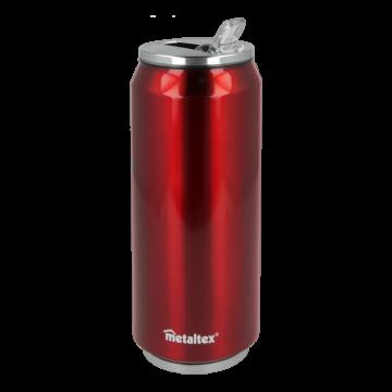 Lata Isotérmica color Roja de 500 ml con boquilla abatible – Metaltex 899772