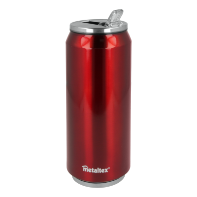 Lata Isotérmica color Roja de 500 ml con boquilla abatible - Metaltex 899772