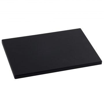 Tabla Cortar Polietileno (PE-500) Metaltex 29x20cm espesor 15mm color NEGRO