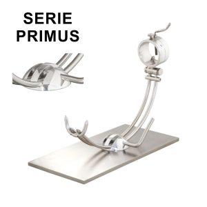 """Soporte jamonero Afinox Serie PRIMUS """"PR-AM"""" con base de Acero Mate y cabezal giratorio"""