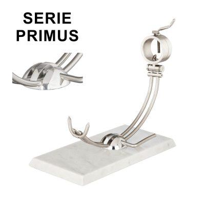 "Soporte jamonero Afinox Serie PRIMUS ""PR-MB"" con base de Marmol Blanco y cabezal giratorio"
