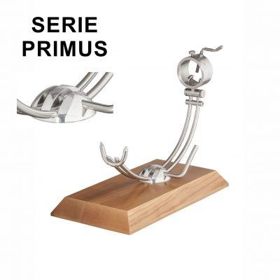 "Soporte jamonero Afinox Serie PRIMUS ""PR-MF"" con base de Madera de Fresno y cabezal giratorio"