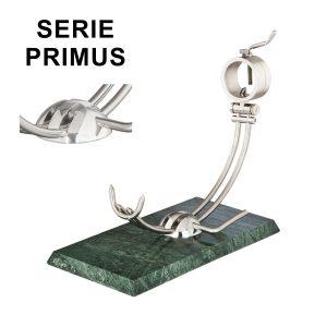 "Soporte jamonero Afinox Serie PRIMUS ""PR-MV"" con base de Marmol Verde y cabezal giratorio"