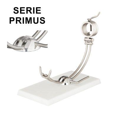 """Soporte jamonero Afinox Serie PRIMUS """"PR-PB"""" con base de Polietileno Blanco y cabezal giratorio"""