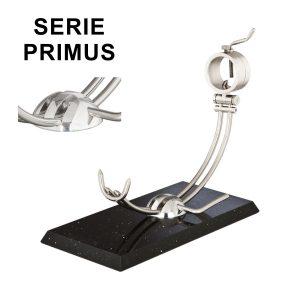 """Soporte jamonero Afinox Serie PRIMUS """"PR-SN"""" con base de Silestone Negro Estelar y cabezal giratorio"""